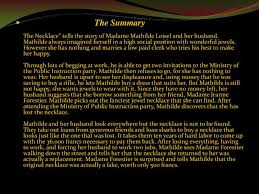 maupassant necklace images Ppt the necklace guy de maupassant powerpoint presentation id jpg