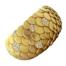cuff bracelet with gold images Pomellato sirene diamond gold cuff bracelet for sale at 1stdibs jpg