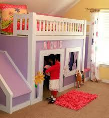 girls twin loft bed with slide loft beds princess loft bed with slide stairs and beds kmart