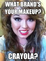Makeup Meme - what brand s your makeup crayola creepy makeup girl quickmeme