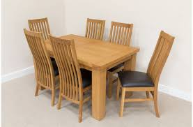 Natural Wood Dining Room Sets by Solid Oak Dining Room Furniture