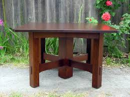 stickley mahogany dining table voorhees craftsman mission oak furniture gustav stickley inspired