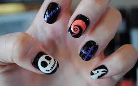 the nightmare before christmas nail art youtube jack skellington