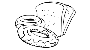 Donut And Bread Coloring Page How To Draw And Color And Drawing Bread Coloring Page