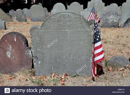 American Flag On Ground Typical Headstone With American Flag In Copp U0027s Hill Burying Ground