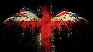 hawk on the english flag facebook cover unsocial networking