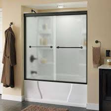 Home Depot Bathtub Shower Doors Frosted Bathtub Doors Bathtubs The Home Depot