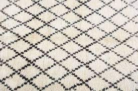 moroccan white and black beni ouarain rug for sale at 1stdibs