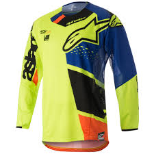 alpinestars motocross jersey alpinestars techstar factory motocross jersey in orange fluo