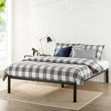 Black Metal Bed Frame Zinus Platform 1500 Queen Metal Bed Frame Hd Asmp 15q The Home Depot