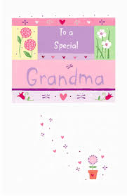 special grandma greeting card happy birthday printable card