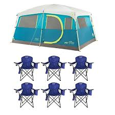 chair tent coleman tenaya lake 8 person instant cabin weathertec cing tent