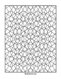 diamonds geometric pattern coloring adults