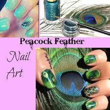 peacock feather nail art tutorial youtube
