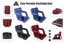 leader accessories stadium seat cozy portable reclining seat