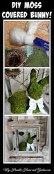 Easter Bunny Decorations Diy by Diy Moss Covered Bunny On My Humble Home And Garden Com Diy Home