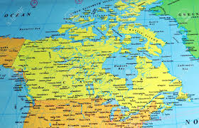 canadian map cities canada color map includes names of many cities and references