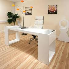 Computer Desk Work Station with White Gloss Desk Modern Designer Desk Work Station White Gloss