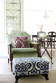 Print Ottoman How To Slipcover An Ottoman Again Less Than Of