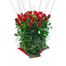 Long Stem Roses Attractive 18 Long Stem Roses With Babies Breath In A Box
