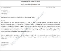 Letter Meaning In what is appointment letter specimen of appointment letter