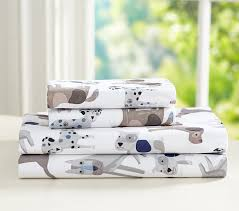 Puppy Crib Bedding Sets Puppy Sheet Set Pottery Barn