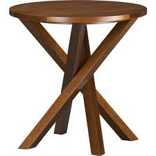 round walnut side table table crate and barrel