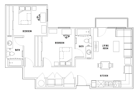 2 Room Flat Floor Plan Floor Plans The Village At Overton Park Student Housing