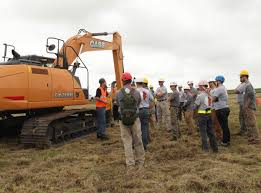 case ce provides equipment for erosion control project that also
