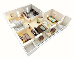 3 Bedroom Flat Floor Plan by Three Bedroom Apartment Floor Plan With Design Photo 70467 Fujizaki
