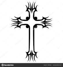 tattoo tribal cross designs isolated vector sketch of a tattoo