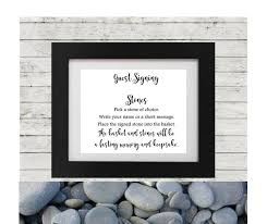 signing stones for wedding wedding wishing guest book sign printable wedding guest