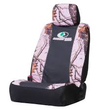 amazon com mossy oak pink camo low back bucket seat cover mossy