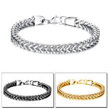silver chain bracelet ebay images Fate love brand punk style bracelet bangles for men boy metal jpg