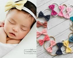 baby bow headbands mini bow headband etsy