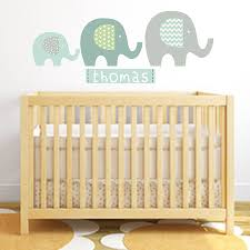 elephant name fabric wall stickers by littleprints elephant name fabric wall stickers