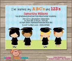 kindergarten graduation announcements designs free graduation invitation for kindergarten with image