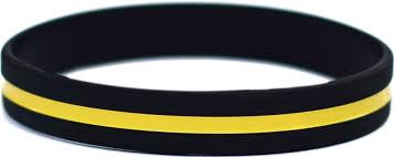 silicone wrist bracelet images Thin gold line silicone wristband jpg
