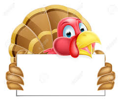 a thanksgiving or turkey holding a sign royalty