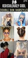 28 ridiculously cool double bun hairstyles you try space