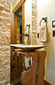 Houzz Rustic Bathrooms - houzz rustic bathrooms bathroom rustic with vessel sink stone wall