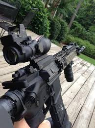 amazon acog black friday ar with trijicon acog and rmr combo on a larue mount scar style