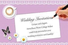 wedding invitation making online heart engagement party invitation