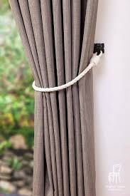 Rope Tiebacks For Curtains Curtain Tie Back Cotton Rope Curtain Tie Backs Nautical Style