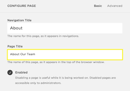 squarespace help renaming a page
