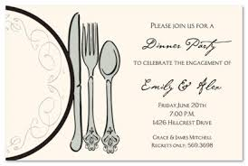 formal luncheon invitation featuring dinner classic plate invitation myexpression 19720