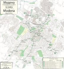 Modena Italy Map by Modena Trolleybus Obus Trackless Trolley Coach Etb Filobus
