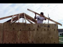 Hip And Valley Roof Calculator How To Layout And Cut Hip And Valley Roof Rafters Youtube