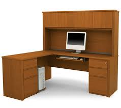 Office Furniture With Hutch by Furniture Wooden L Shaped Desk With Hutch Plus Drawer And