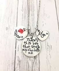 mothers necklace mothers day gift for theres this boy mothers necklace stol